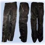 Black w/Steel Zippers Panno D'Or Nylon Parachute Pants